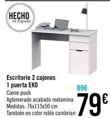 Oferta de Escritorio 2 cajones 1 puerta EKO por 79€