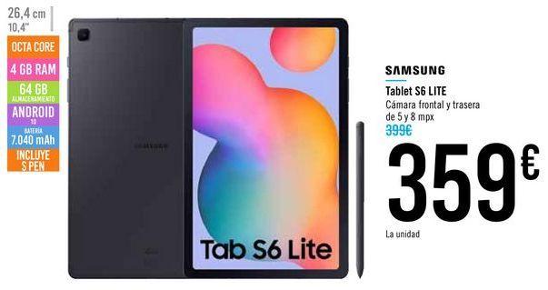 Oferta de Tablet S6 LITE SAMSUNG por 359€