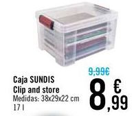 Oferta de Caja SUNDIS Clip and store  por 8,99€