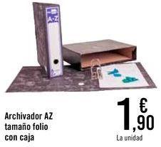 Oferta de Archivador AZ tamaño folio con caja  por 1,9€