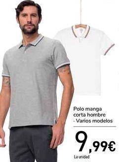 Oferta de Polo manga corta hombre  por 9,99€