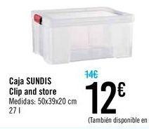 Oferta de Caja SUNDIS Clip and store por 12€