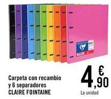 Oferta de Carpeta con recambio y 6 separadores CLAIRE FOINTAINE  por 4,9€