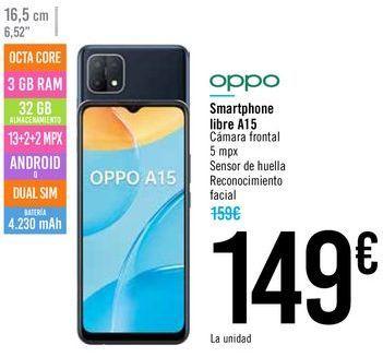 Oferta de Smartphone libre A15 OPPO por 149€