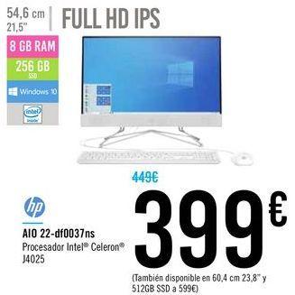 Oferta de AIO 22-df0037ns HP por 399€