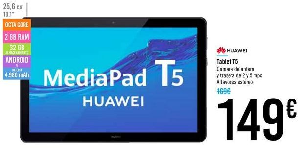 Oferta de Tablet T5 HUAWEI por 149€