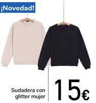 Oferta de Sudadera con glitter mujer  por 15€
