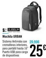Oferta de Mochila URBAN  por 25€