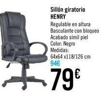 Oferta de Sillón giratorio HENRY  por 79€