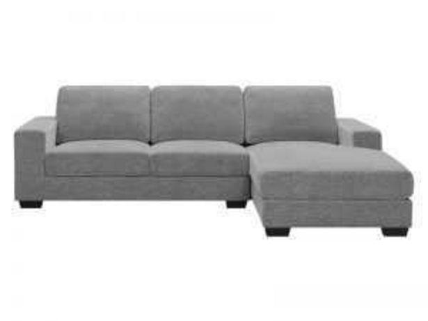 Oferta de Sofá 3PL+chaisselongue derecha «UJ099I» gris claro por 490€