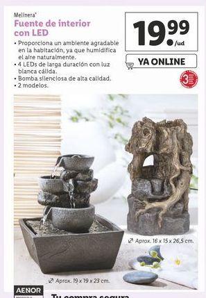 Oferta de Fuente de interior con led melinera por 19,99€