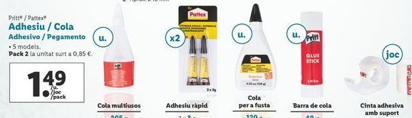 Oferta de Adhesivos/pegamento Pattex por 1,49€