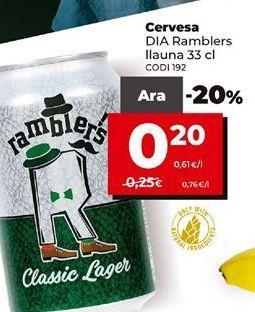 Oferta de Cerveza Dia por 0,2€