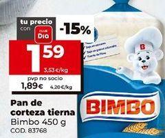 Oferta de Pan de molde Bimbo por 1,59€