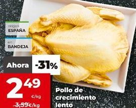 Oferta de Pollo de crecimiento lento  por 2,49€