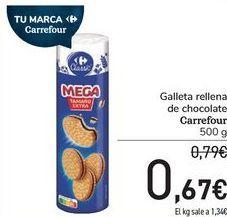 Oferta de Galleta rellena de chocolate Carrefour por 0,67€