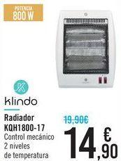 Oferta de Radiador KQH1800-17 Klindo  por 14,9€