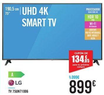 Oferta de TV 75UN71007 LG por 899€