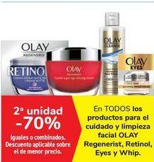Oferta de En TODOS los productos para el cuidado y limpieza facial OLAY Regenerist, Retinol, Eyes y Whip por