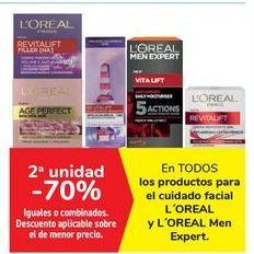 Oferta de En TODOS los productos para el cuidado facial L'OREAL y L'OREAL Men Expert por