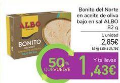 Oferta de Bonito del Norte en aceite de oliva bajo en sal ALBO  por 2,85€