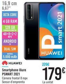 Oferta de Smartphone libre PSMART 2021 HUAWEI  por 179€