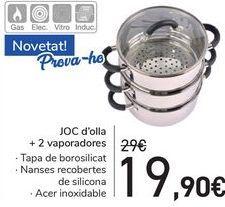 Oferta de SET de olla 2 vaporeras  por 19,9€