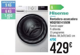 Oferta de Lavadora-secadora WDQY901418VJM Hisense c por 429€