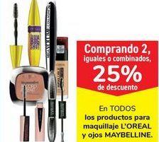 Oferta de En TODOS los productos para maquillaje L'OREAL y ojos MAYBELLINE por