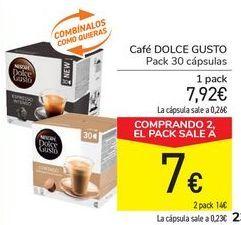 Oferta de Café DOLCE GUSTO por 7,92€