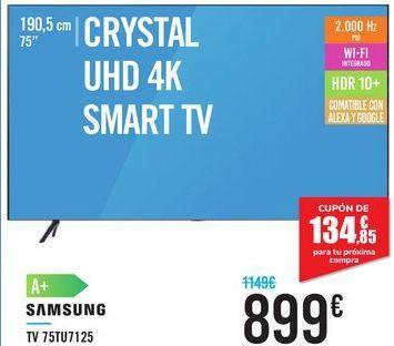 Oferta de TV 75TU7125 SAMSUNG  por 899€