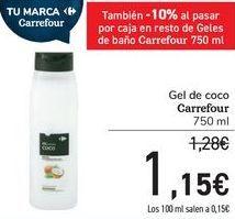 Oferta de Gel de coco Carrefour  por 1,15€
