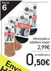 Oferta de Minimedia o tobillero mujer  por 2,99€