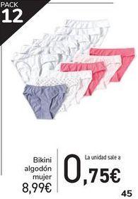Oferta de Bikini algodón mujer  por 8,99€