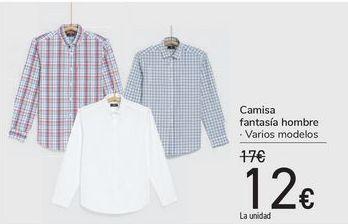 Oferta de Camisa fantasía hombre  por 12€