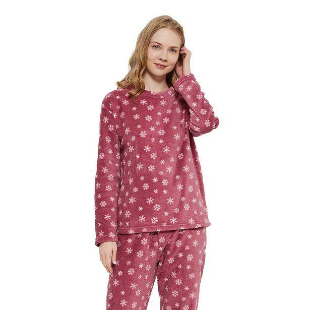 Oferta de Pijama coral Snow malva por 7,99€