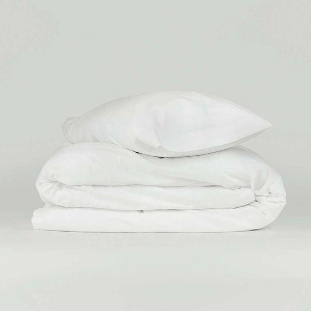 Oferta de Funda nórdica algodón Tintura blanco 90 por 14€