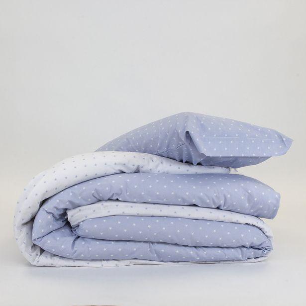 Oferta de Funda Nórdica algodón Estrellitas celeste 90 por 14€