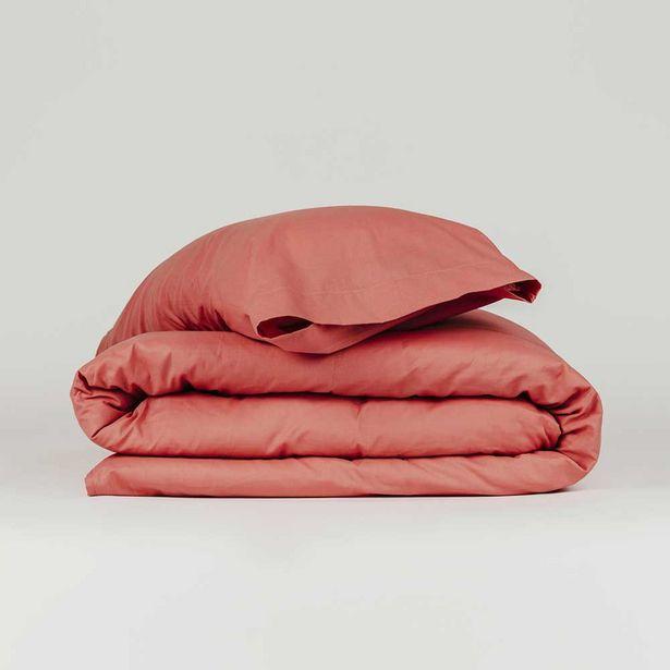 Oferta de Funda nórdica algodón Tintura teja 90 por 14€