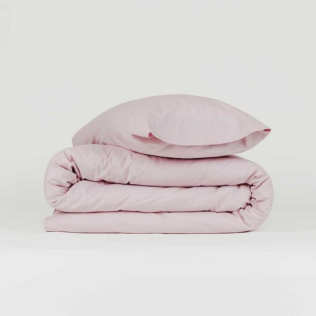 Oferta de Funda nórdica algodón Tintura malva 90 por 14€