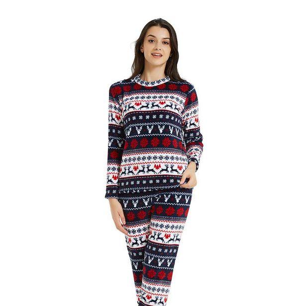 Oferta de Pijama coral CIERVOS Azul/Rojo por 7,99€