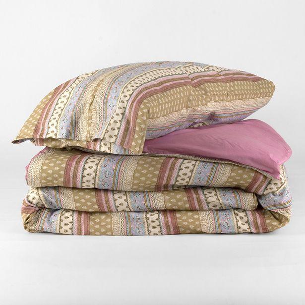 Oferta de Funda nórdica algodón Carmela rosa 90 por 14€