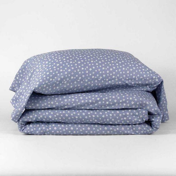 Oferta de Funda nórdica algodón Alma azul 90 por 21,99€
