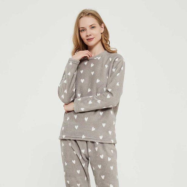Oferta de Pijama coral Olga gris por 7,99€