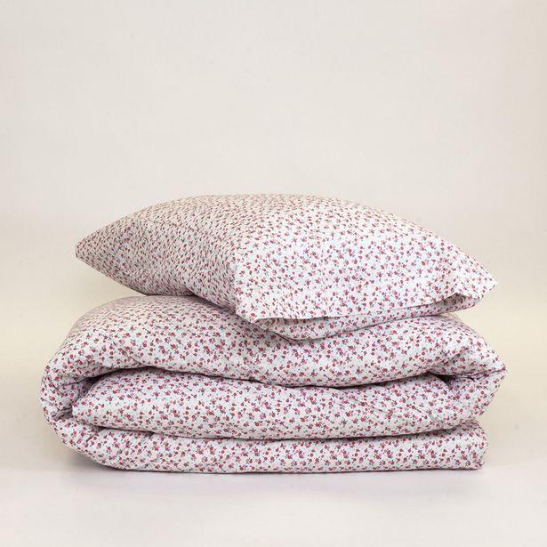 Oferta de Funda Nórdica algodón Melisa rosa 90 por 14€