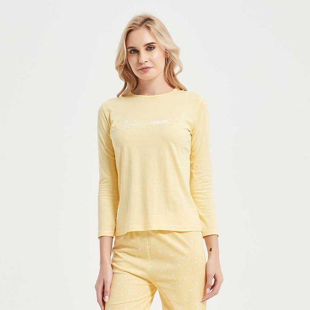 Oferta de Pijama largo algodón Paola mostaza por 10,99€