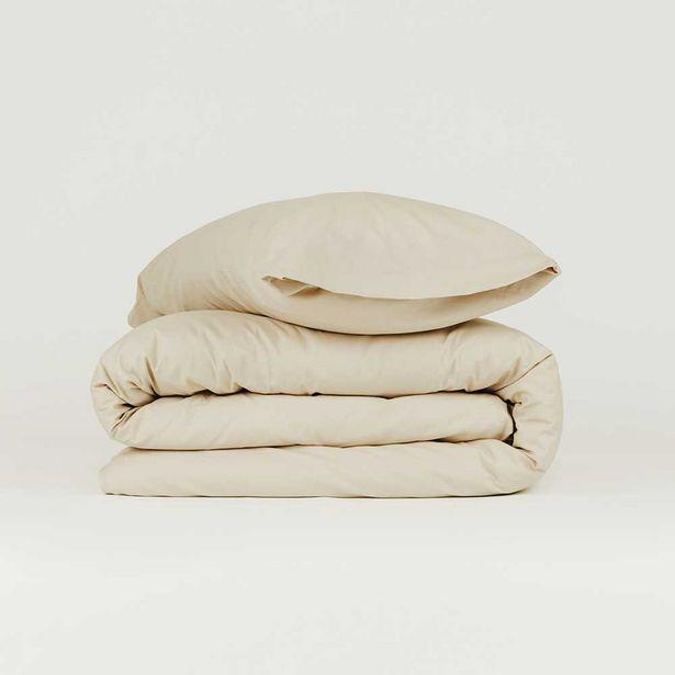 Oferta de Funda nórdica algodón Tintura arena 90 por 14€