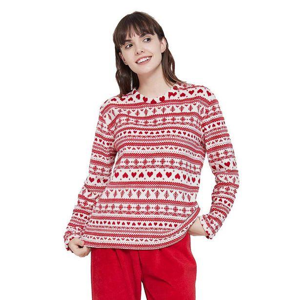 Oferta de Pijama coral Cristina rojo por 7,99€