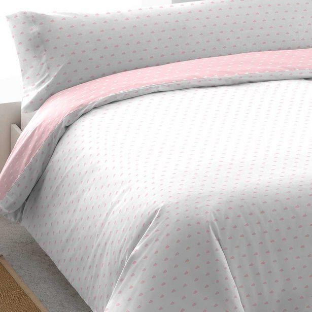 Oferta de Funda nórdica algodón Nubecita rosa 90 por 14€