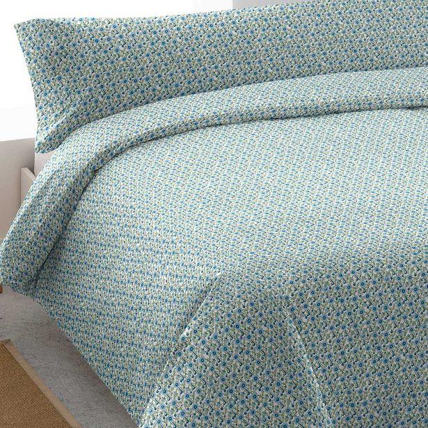 Oferta de Funda nórdica algodón Irene azul 90 por 14€
